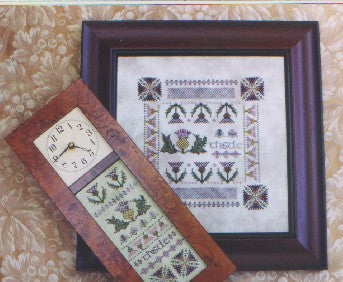 Thistle Clock & Sampler - Cross Stitch Pattern