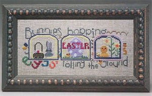 Domes of Easter - Bunnies Hopping… - Cross Stitch Pattern