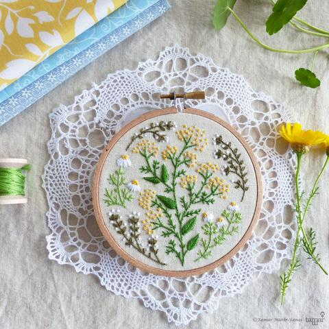 "Green Garden 4"" Embroidery Kit"