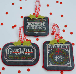 Chalkboard Ornaments Christmas Collection #2 - Cross Stitch Pattern