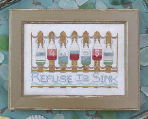 To the Beach #9 - Refuse to Sink - Cross Stitch Pattern