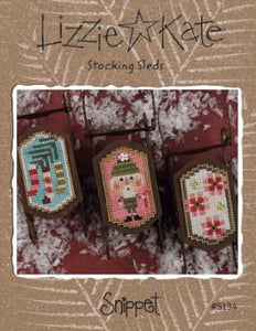 Snippet - Stocking Sleds - Cross Stitch Pattern