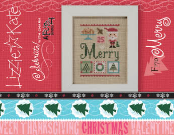 Celebrate with Charm - Merry - Cross Stitch Pattern