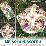 Biscornu of the Month 2019 (3/12) - March Unicorn Biscornu