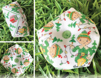 2019 Biscornu of the Month #12 - December Elf Biscornu - Cross Stitch Pattern