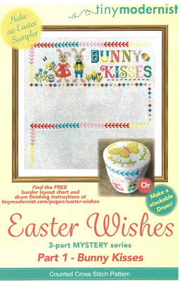 Easter Wishes #1 - Bunny Kisses - Cross Stitch Pattern
