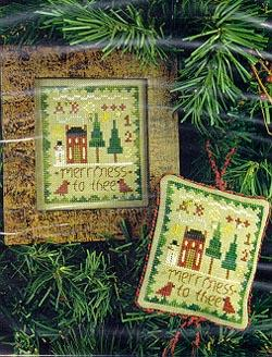 2003 Sampler Ornament - Merriness to Thee - Cross Stitch Pattern