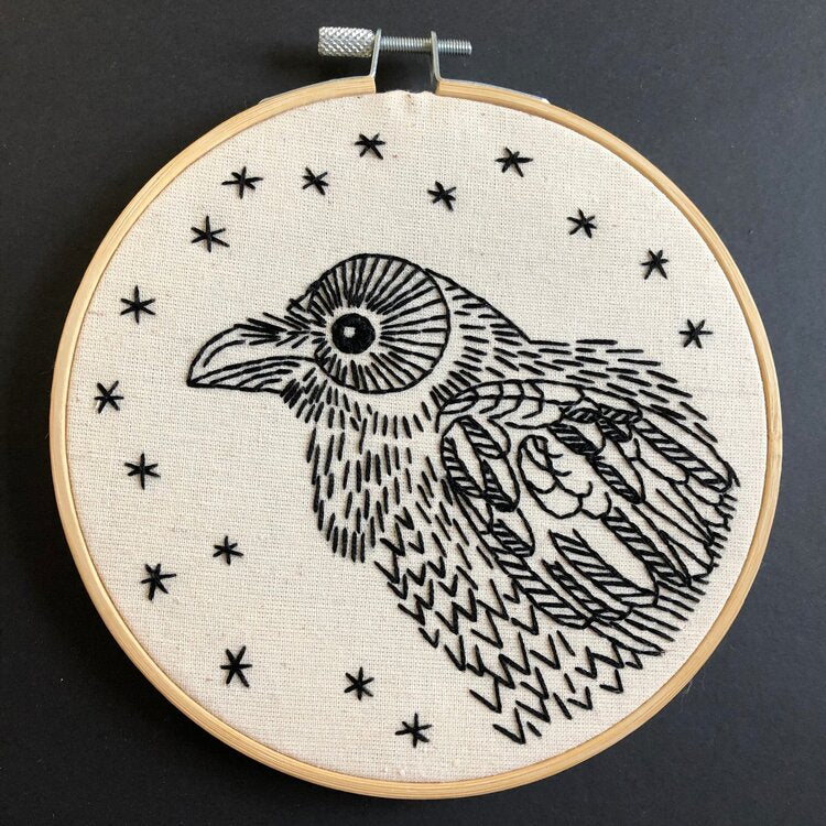 """Nevermore"" Raven Embroidery Kit"