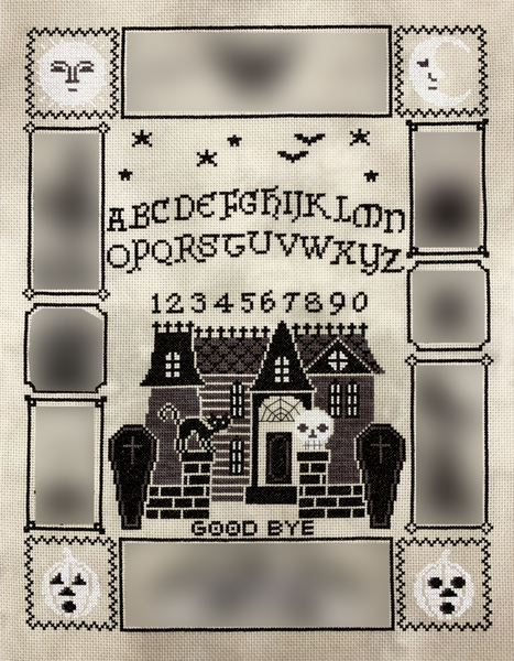 Tiny Modernist Halloween Ouija (part 2/5) - Cross Stitch Pattern