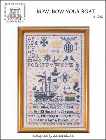 Row, Row Your Boat - Cross Stitch Pattern