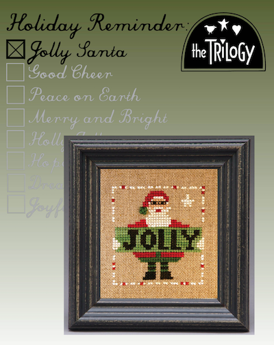 Holiday Reminder - Jolly Santa - Cross Stitch Pattern