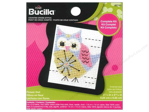 Beginner Minis - Flower Owl - The Starlight Stitchery