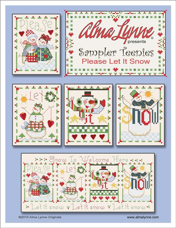 Sampler Teenies - Please Let It Snow - Cross Stitch Pattern