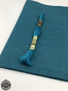 28 ct Cashel Linen - Petrol (Teal) - Cross Stitch Fabric