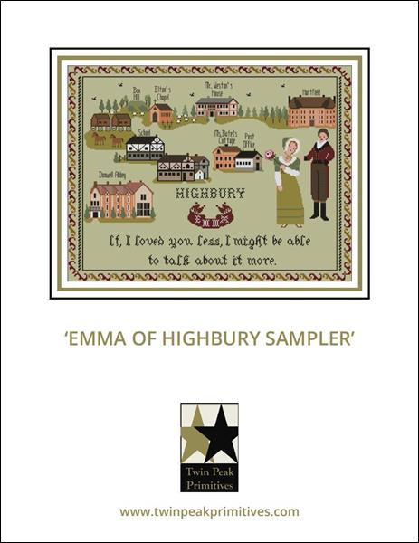 Emma Of Highbury Sampler - Cross Stitch Pattern