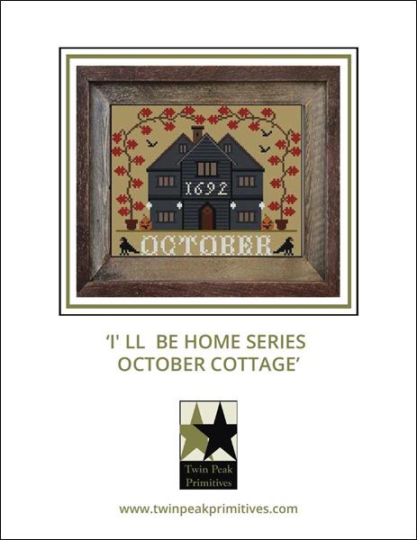 I'll Be Home Series October Cottage - Cross Stitch Pattern