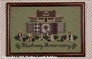 Blueberry Homecoming - Cross Stitch Pattern