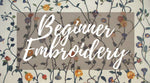 Beginner Embroidery Class Ticket
