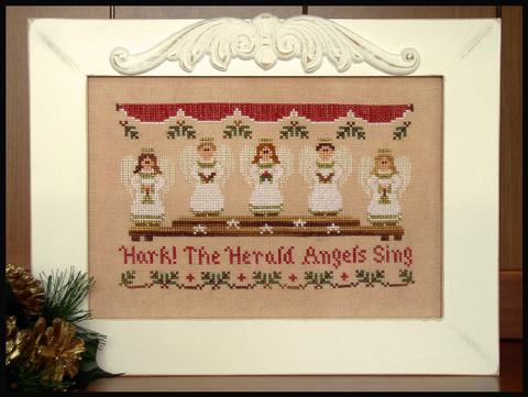 Country Cottage Kids #12 - Hark! The Herald Angels Sing - Cross Stitch Pattern