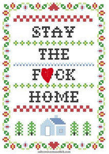Stay The F*ck Home Subversive Cross Stitch Kit