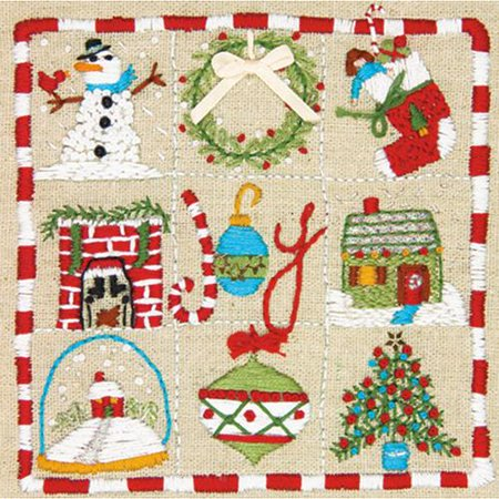 Amy Powers Christmas Embroidery Kit