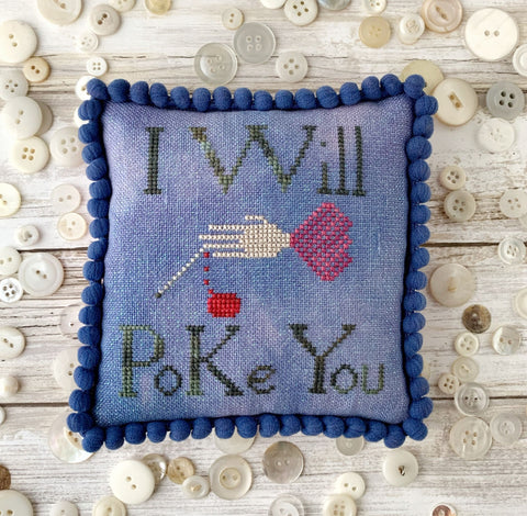 I Will Poke You - Lucy Beam Love in Stitches - Cross Stitch Pattern