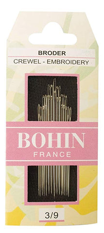 Bohin Embroidery Crewel Needles Size 3/9