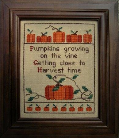 Pumpkin Time - Cross Stitch Pattern
