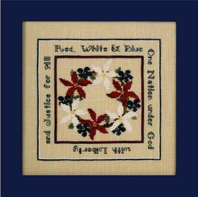 Shades of the Red, White, & Blue - Cross Stitch Pattern