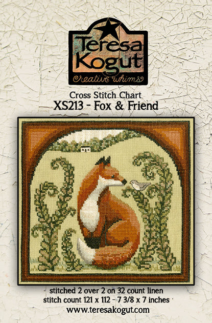 XS213 Fox & Friend - Cross Stitch Pattern