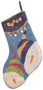 Stocking - Snow Kids - Cross Stitch Pattern