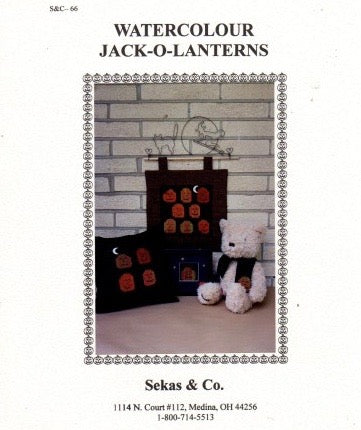 Watercolour Jack-O-Lanterns - Cross Stitch Pattern