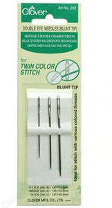 Clover Double Eye Needles Blunt Tip