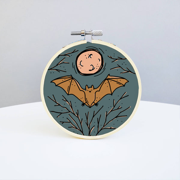 Bat Embroidery Kit - Holly Oddly