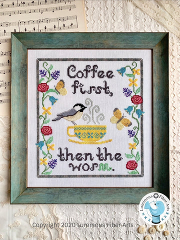 Coffee First - Cross Stitch Pattern