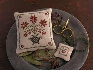 Poinsettias and Pomegranates - Cross Stitch Pattern