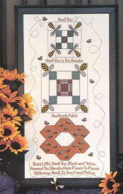 Honey Bees Quilt Sampler - Cross Stitch Pattern