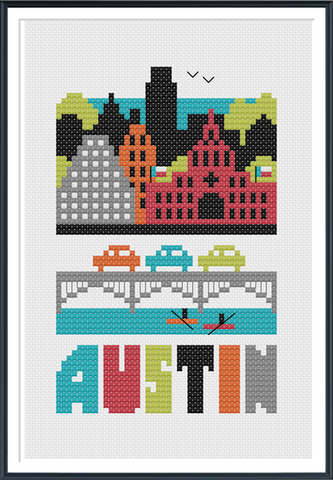 Austin - Cross Stitch Pattern