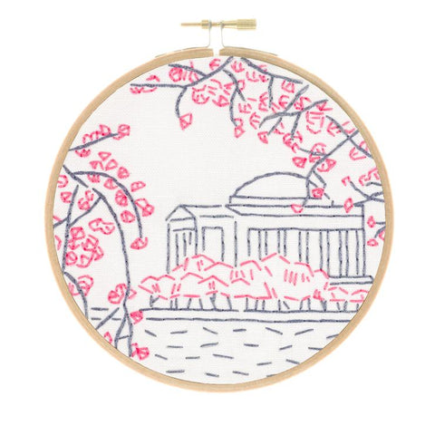 Washington, DC's Cherry Blossoms Embroidery Kit