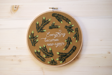 Everything Becomes New Again Embroidery Kit