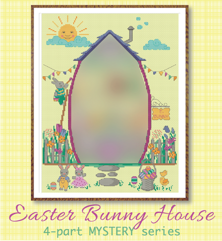 Easter Bunny House SAL #1 - The House - Cross Stitch Pattern