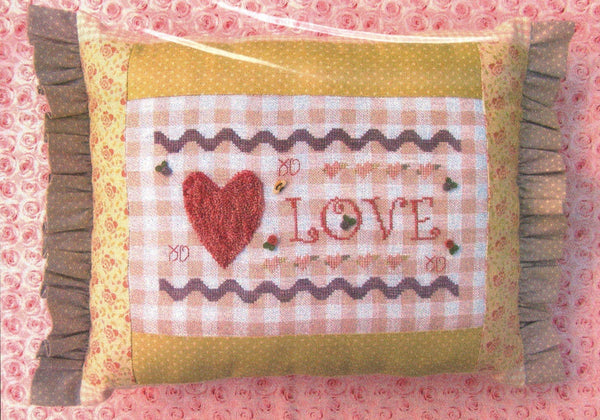 Gingham Love Pillow