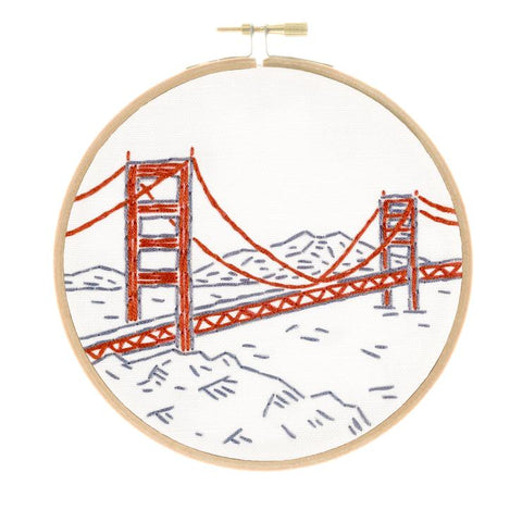 San Francisco's Golden Gate Bridge Embroidery Kit