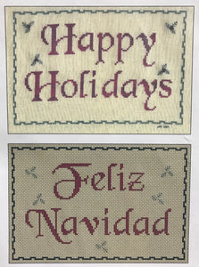Happy Holidays/Feliz Navidad - Cross Stitch Pattern