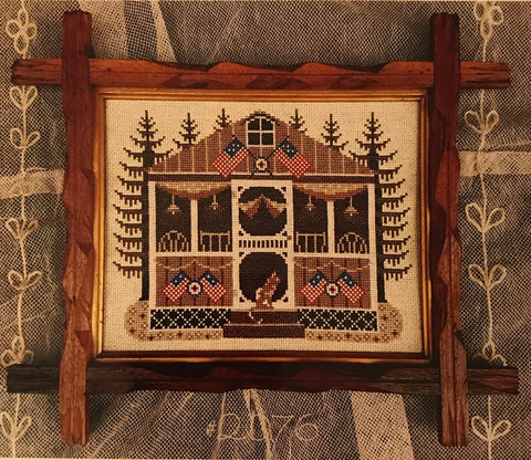 Sepia Celebrate America - Cross Stitch Pattern