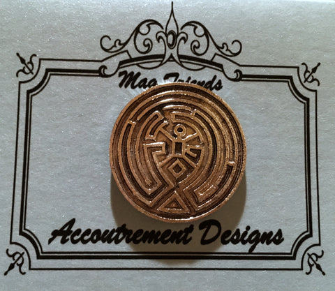 Silver Labyrinth Needle Minder