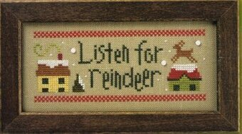 Christmas Rules Double Flip - Listen for Reindeer / Hang Mistletoe - Cross Stitch Pattern