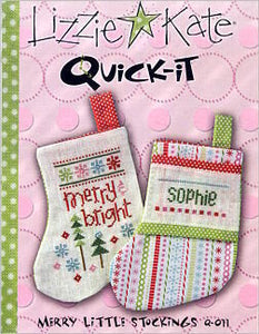 Quick-It - Merry Little Stockings - Cross Stitch Pattern