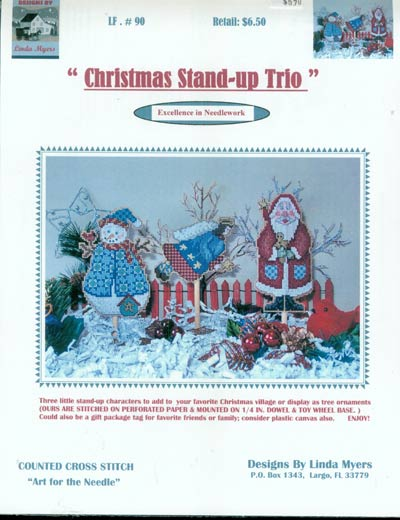 Christmas Stand-Up Trio - Cross Stitch Pattern