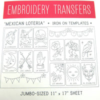 Big Sheet Mexican Loteria Embroidery